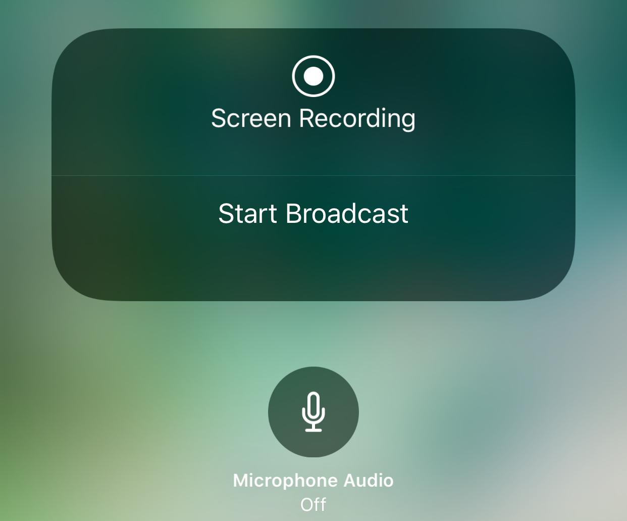 iOS 11 Screen Broadcast feature