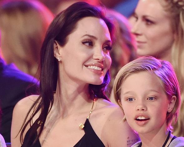Angelina Jolie and Shiloh Jolie-Pitt