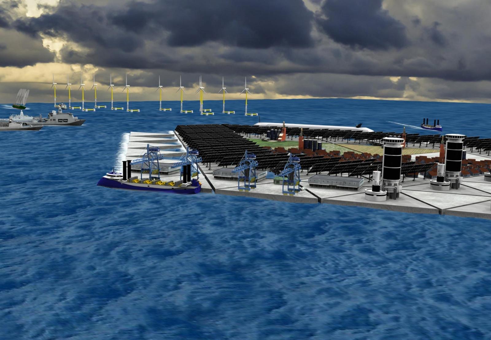 Floating mega island