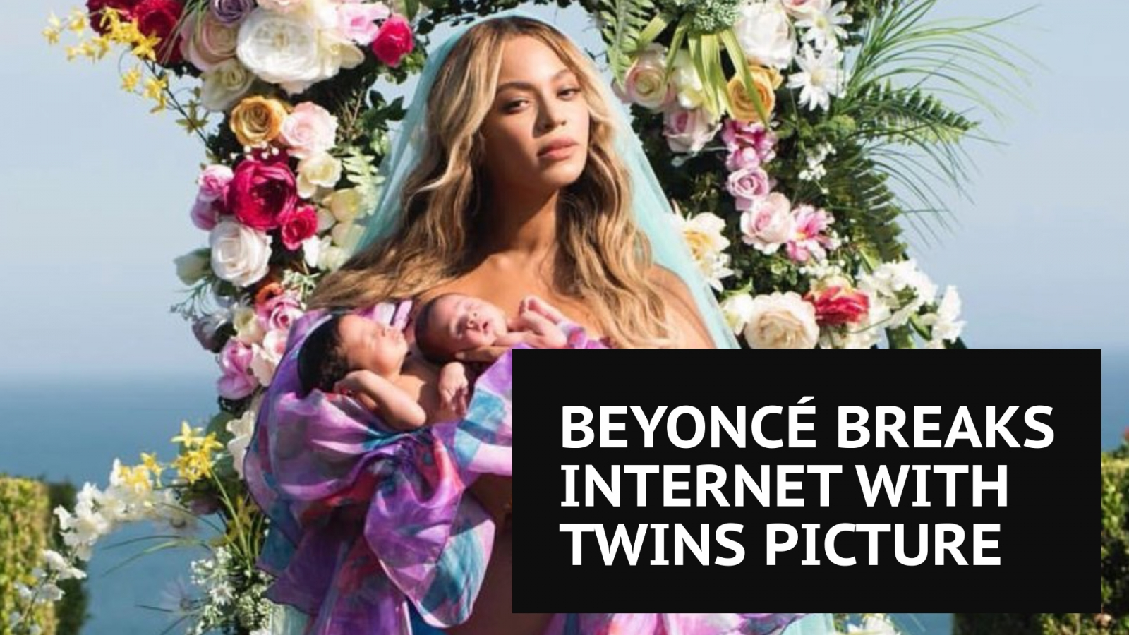 Beyonce Reveals First Photo Of Twins Sir Carter and Rumi, Beyhive Goes Into Meltdown
