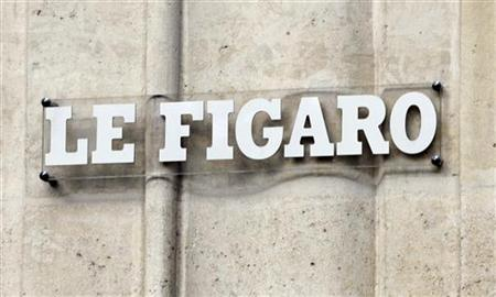 Outside view of the building of France's daily newspaper le Figaro in Paris