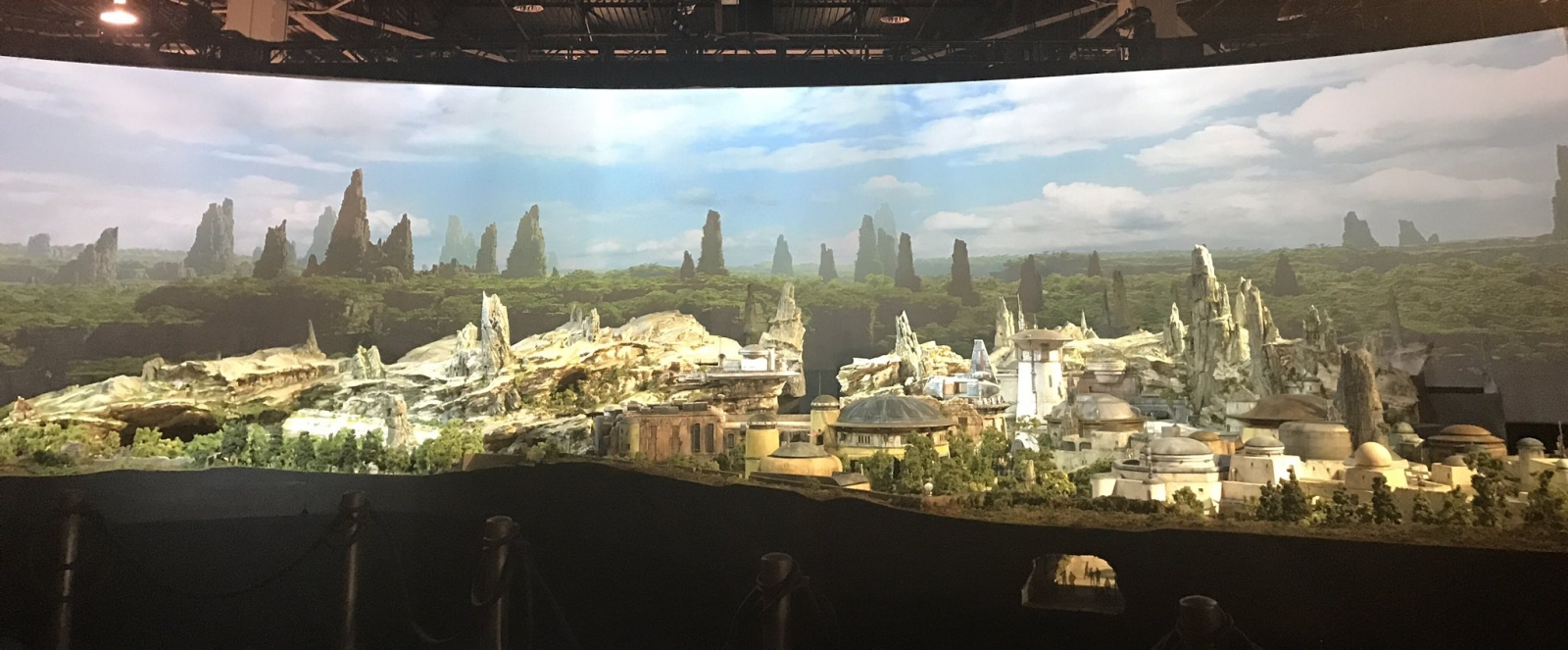 Disney Star Wars Theme Park model
