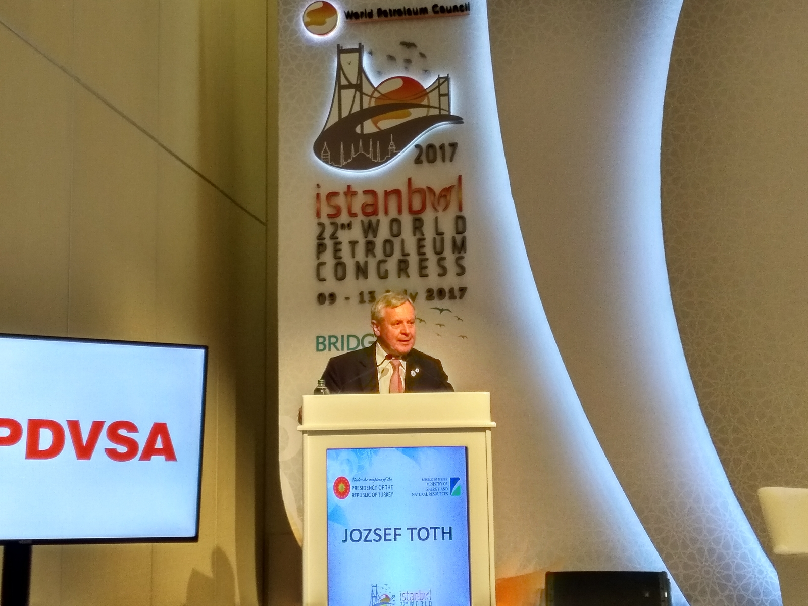 Jozsef Toth, President of World Petroleum Council,