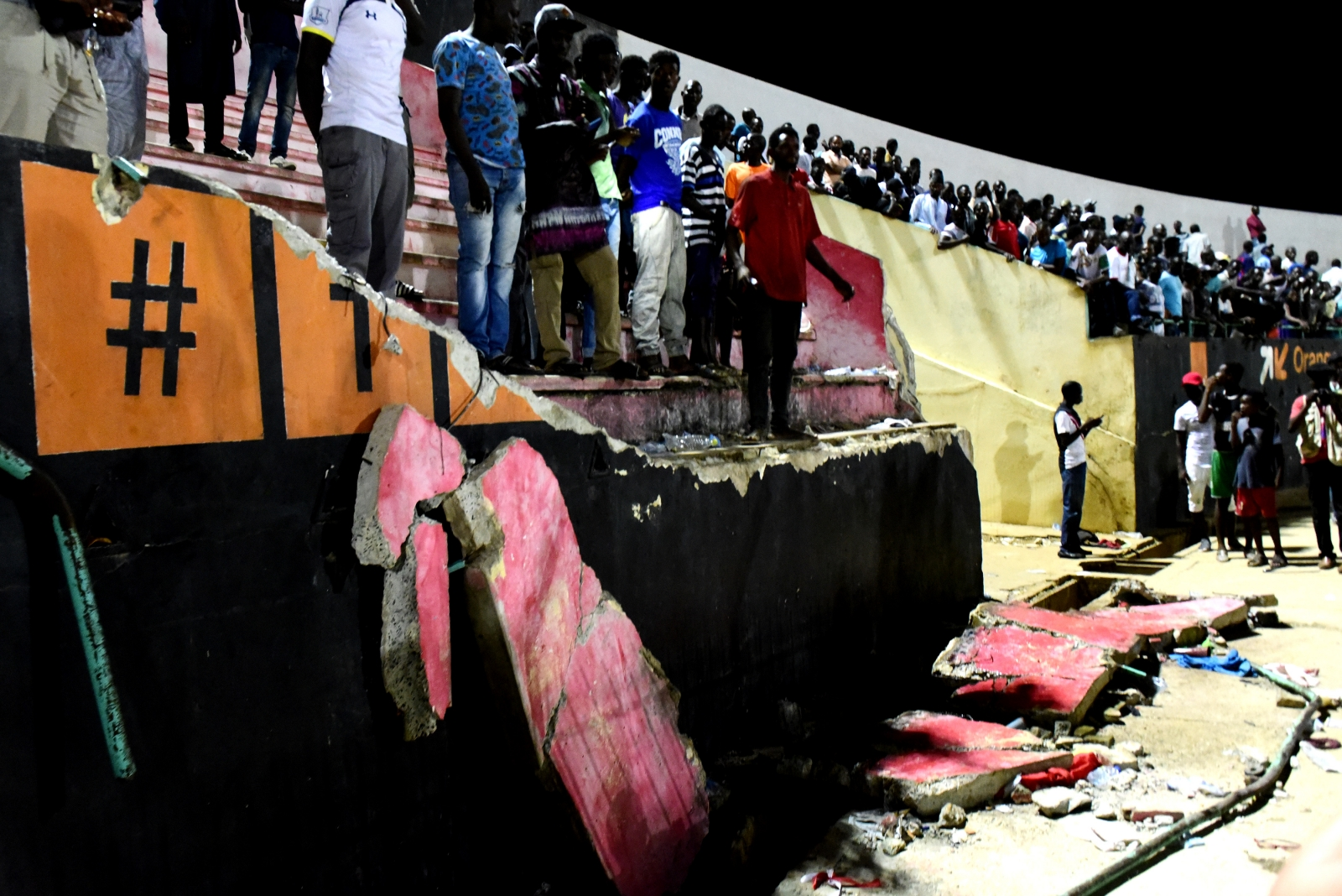 Senegal stadium wall collapse