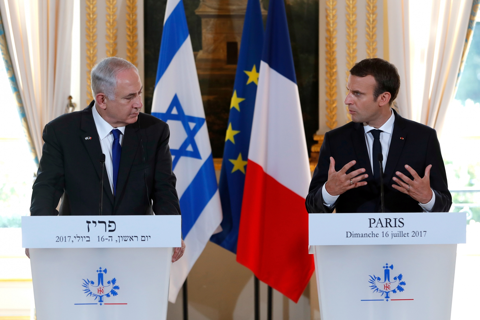 Netanyahu Macron