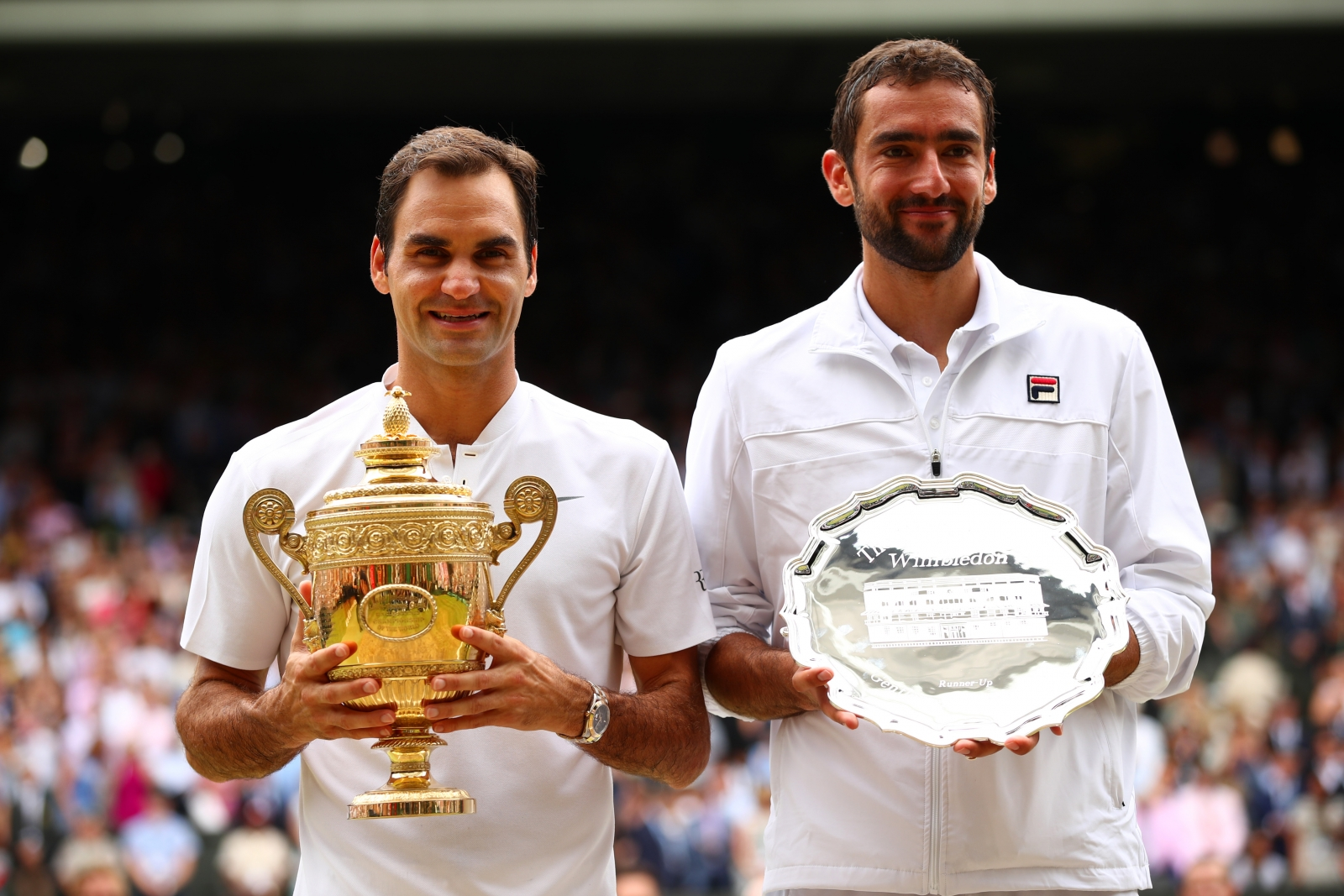 Roger Federer and Marin Cilic