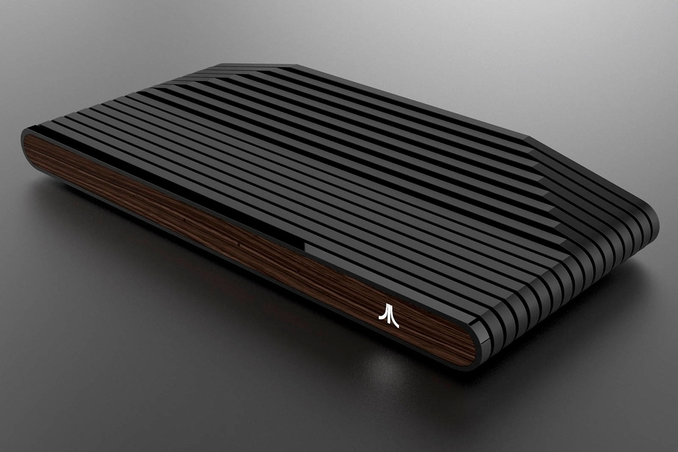 Ataribox games console wooden