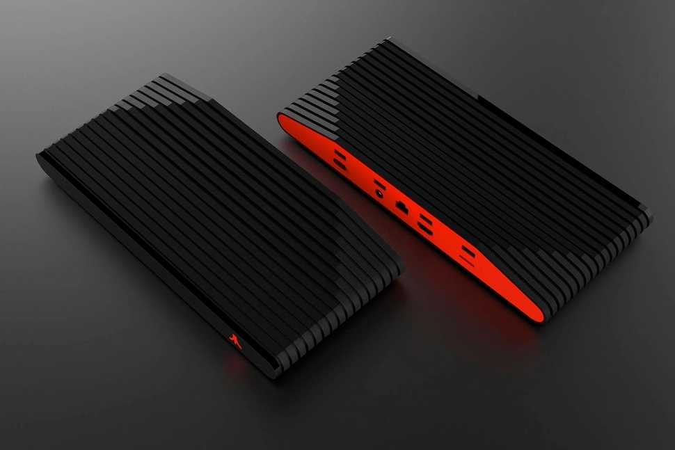 Ataribox games console red black