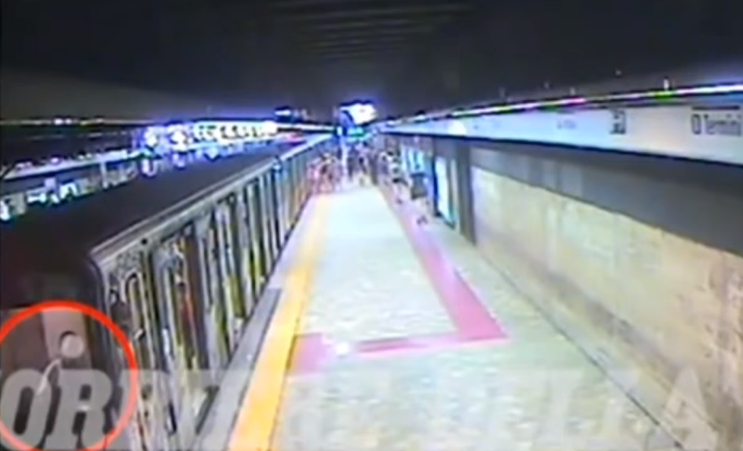 Woman on Rome metro dragged along platform by train