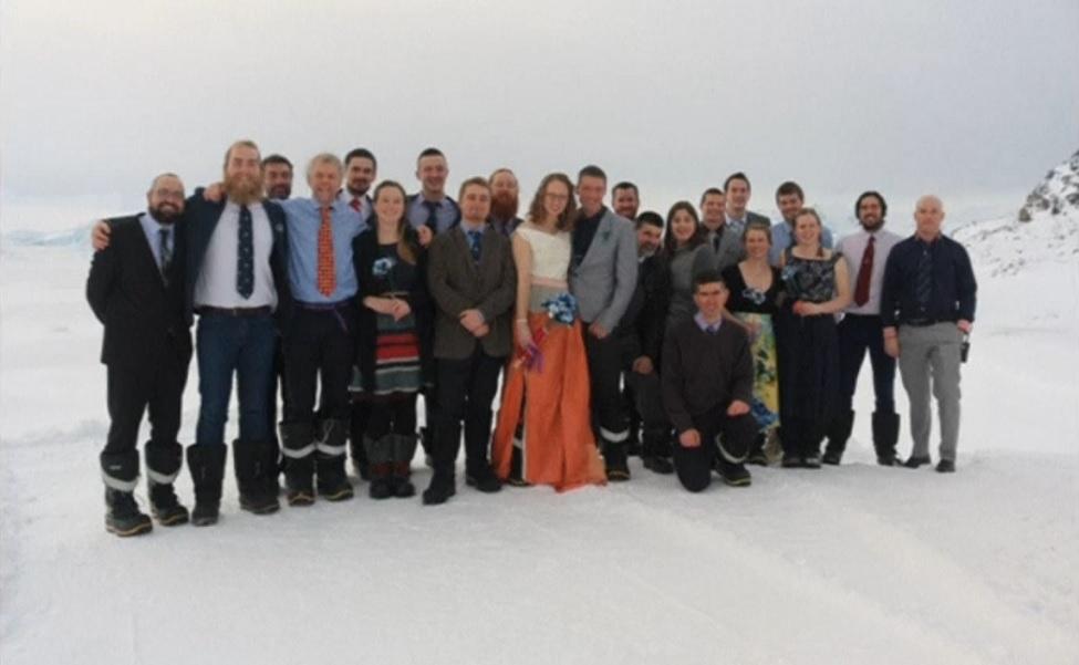 British Antarctic Territory wedding