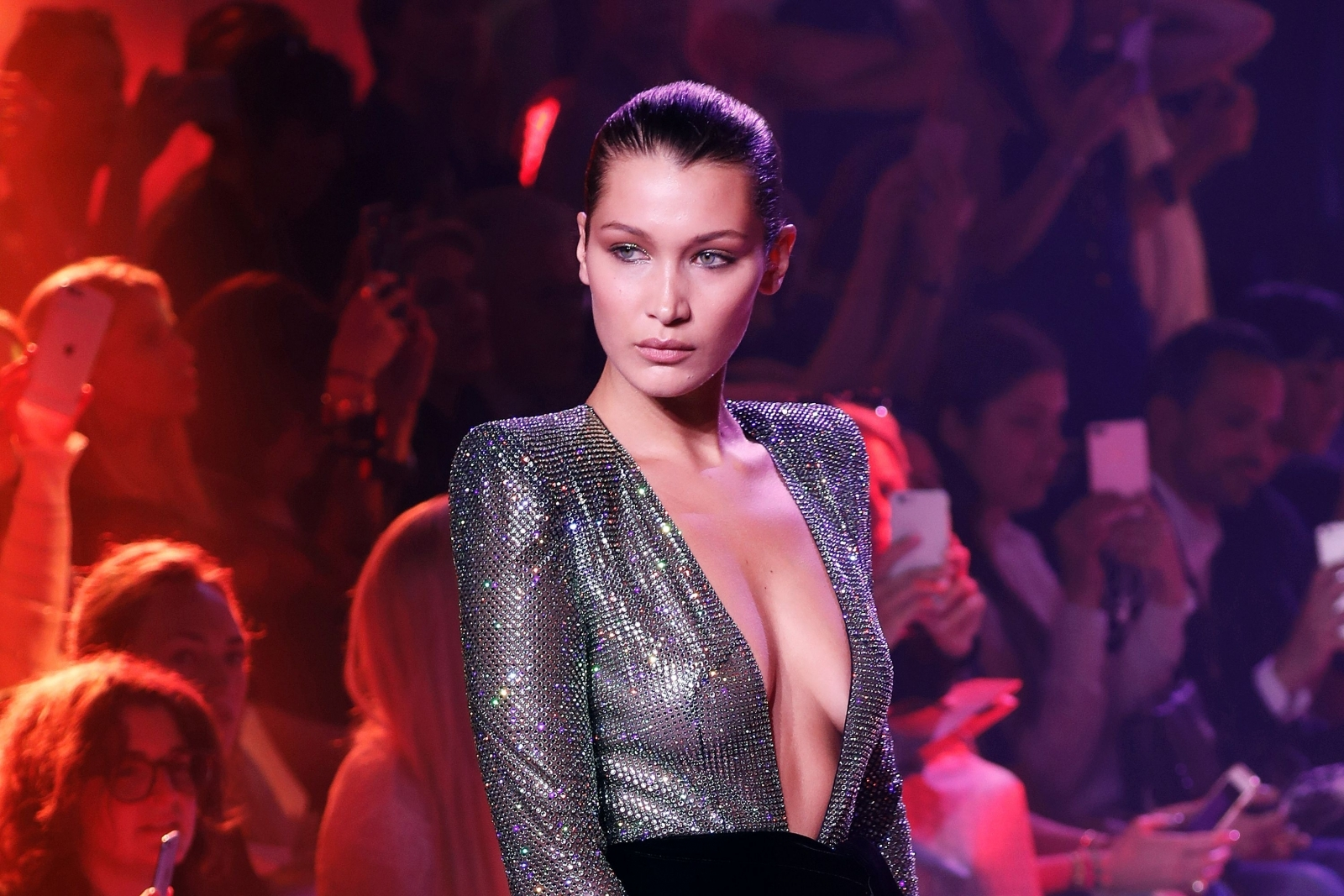 Bella Hadid Goes Braless And Flaunts Her New Haircut In