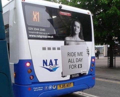 Cardiff bus advert