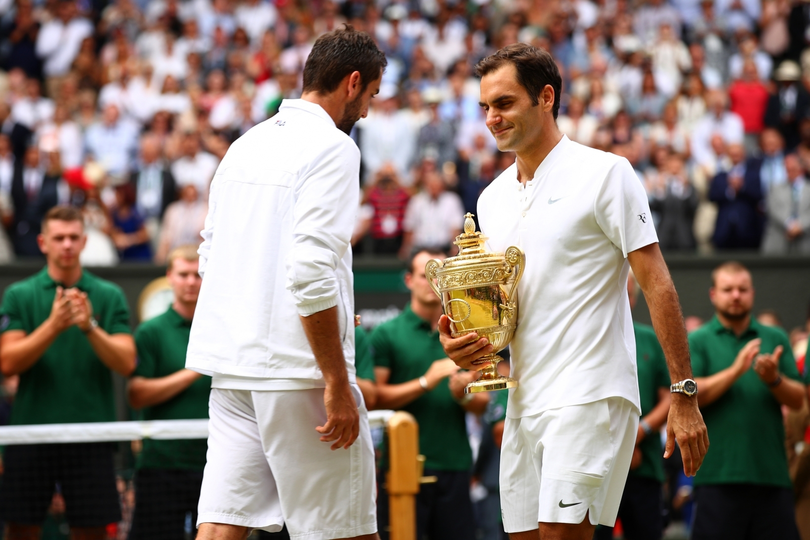 Marin Cilic and Roger Federer