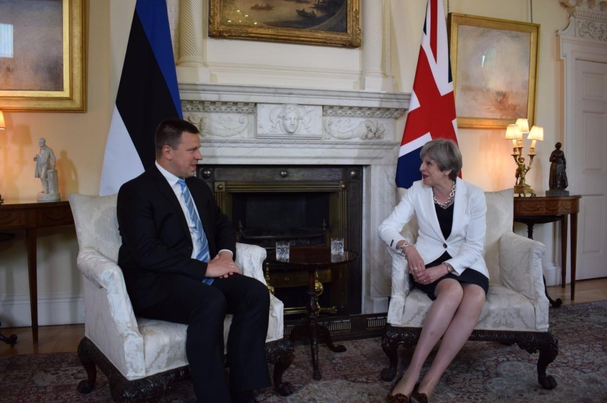 Estonian PM Jüri Ratas and Theresa May
