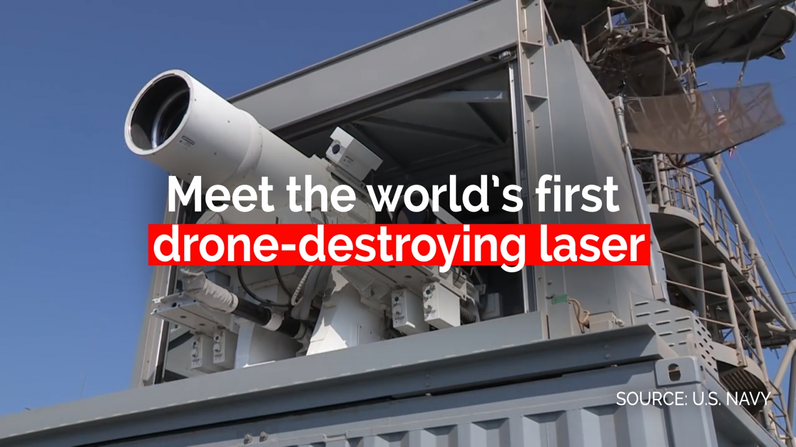 US Navy tests world's first drone-destroying laser