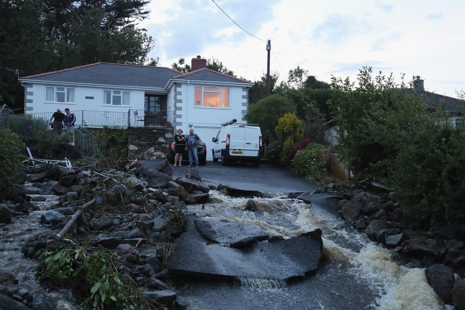 Coverack flash floods