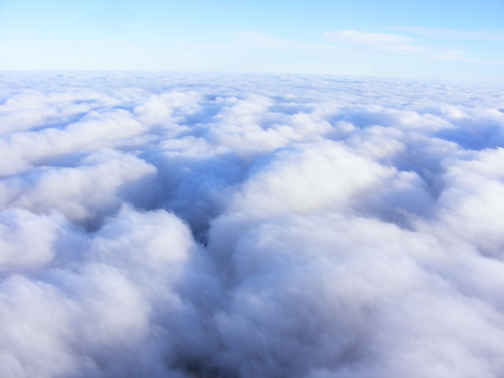 Flying at the top of the clouds