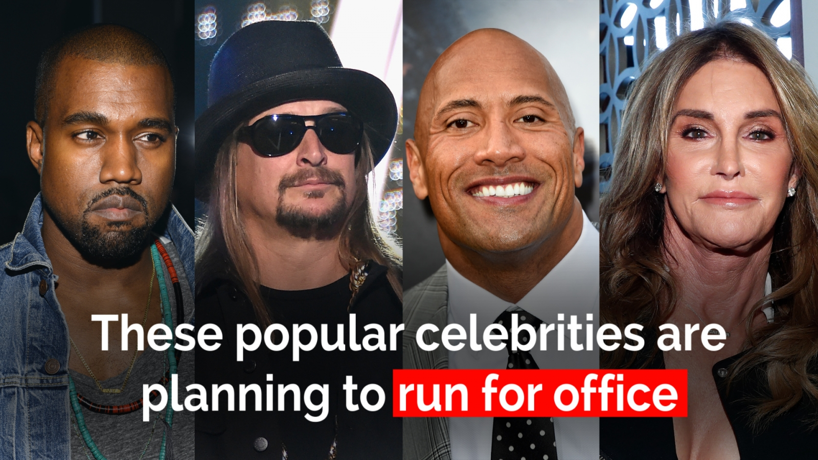 These celebrities might run for US office