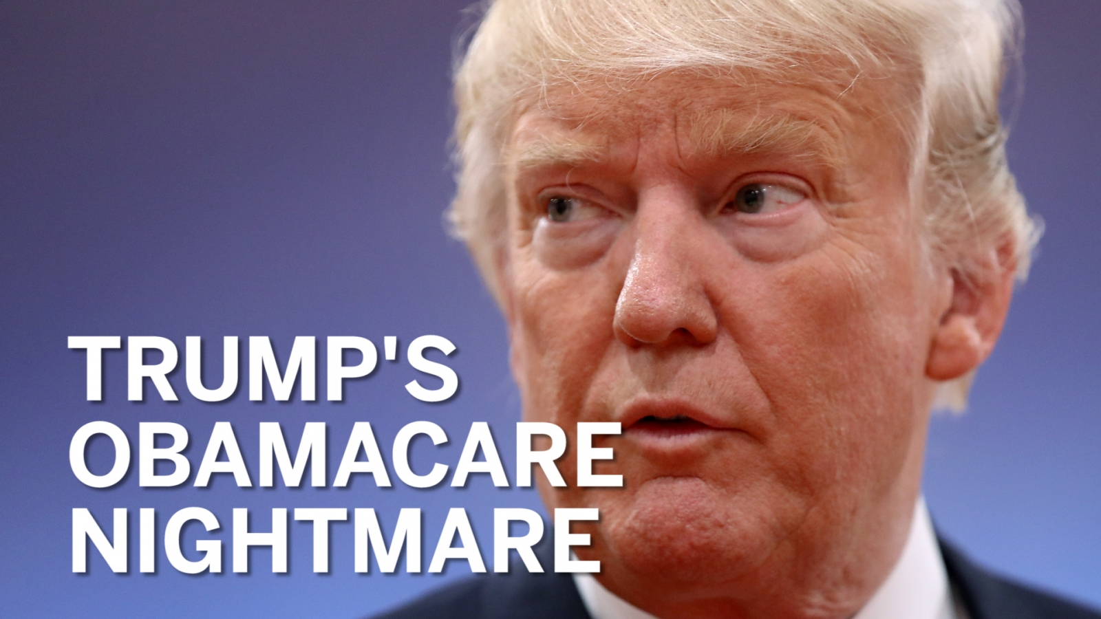 Watch Donald Trump slowly realise how difficult it is to repeal and replace Obamacare