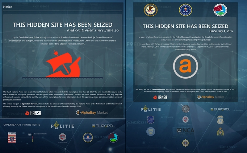 Dark web marketplaces Alphabay and Hansa shut down by United States government
