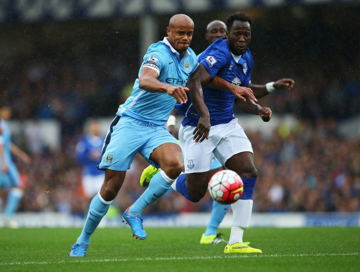 Vincent Kompany and Romelu Lukaku