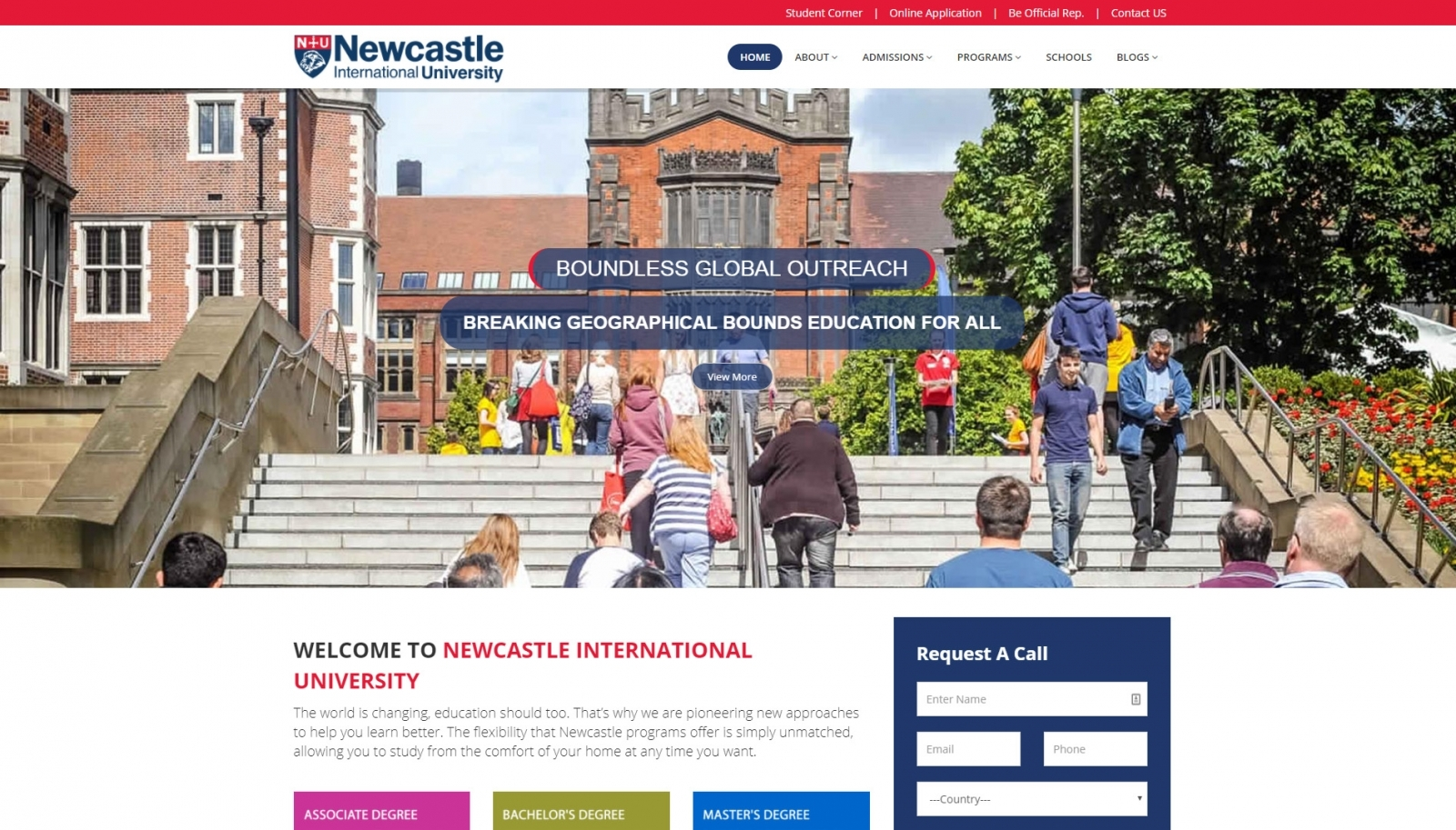 The fake Newcastle University website