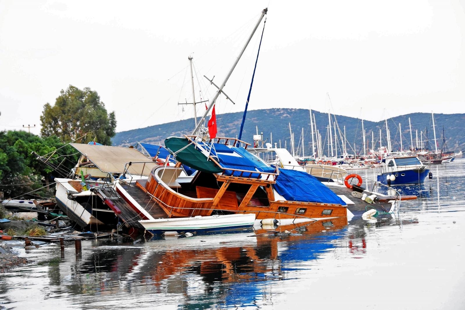 Turkey earthquake boat