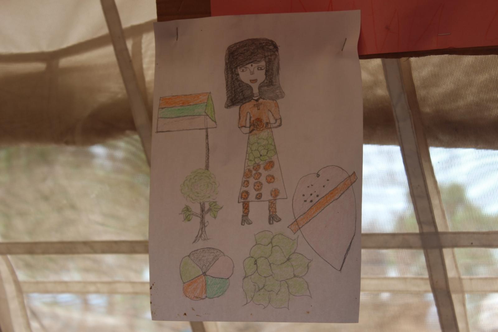 South Sudan children's drawings