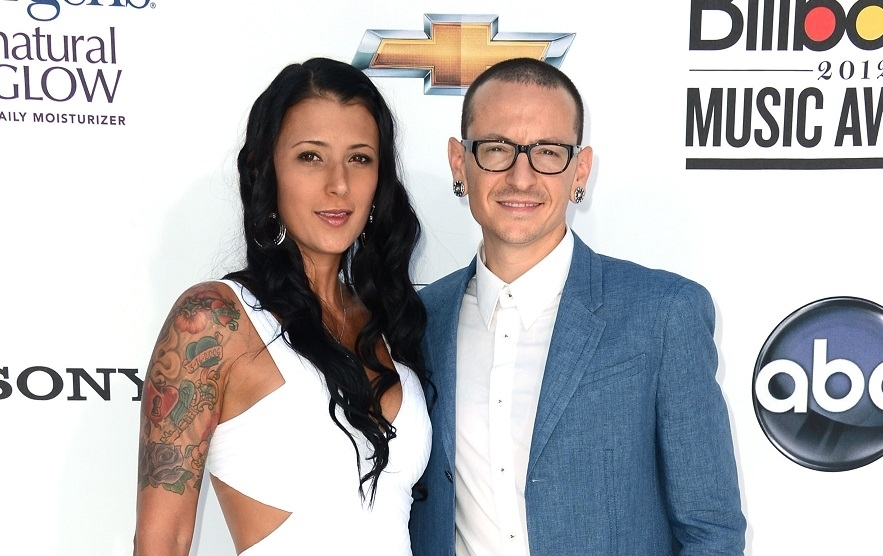 Chester Bennington and wife Talinda Ann Bentley