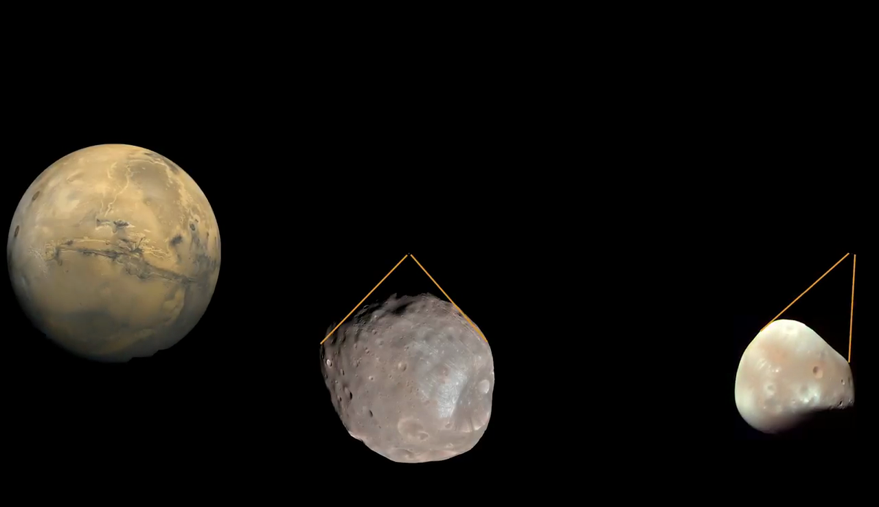 Tiny moon Phobos photobombs Mars
