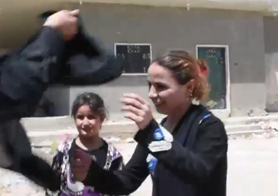 burqa burning raqqa isis syria