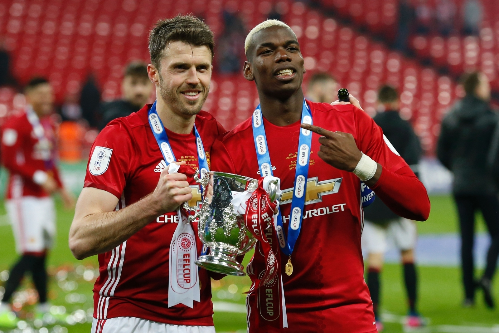 Carrick and Pogba