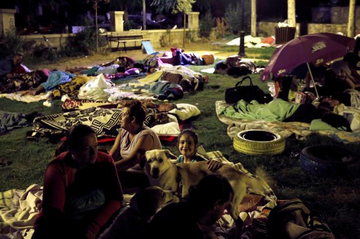 Kos earthquake sleeping outside