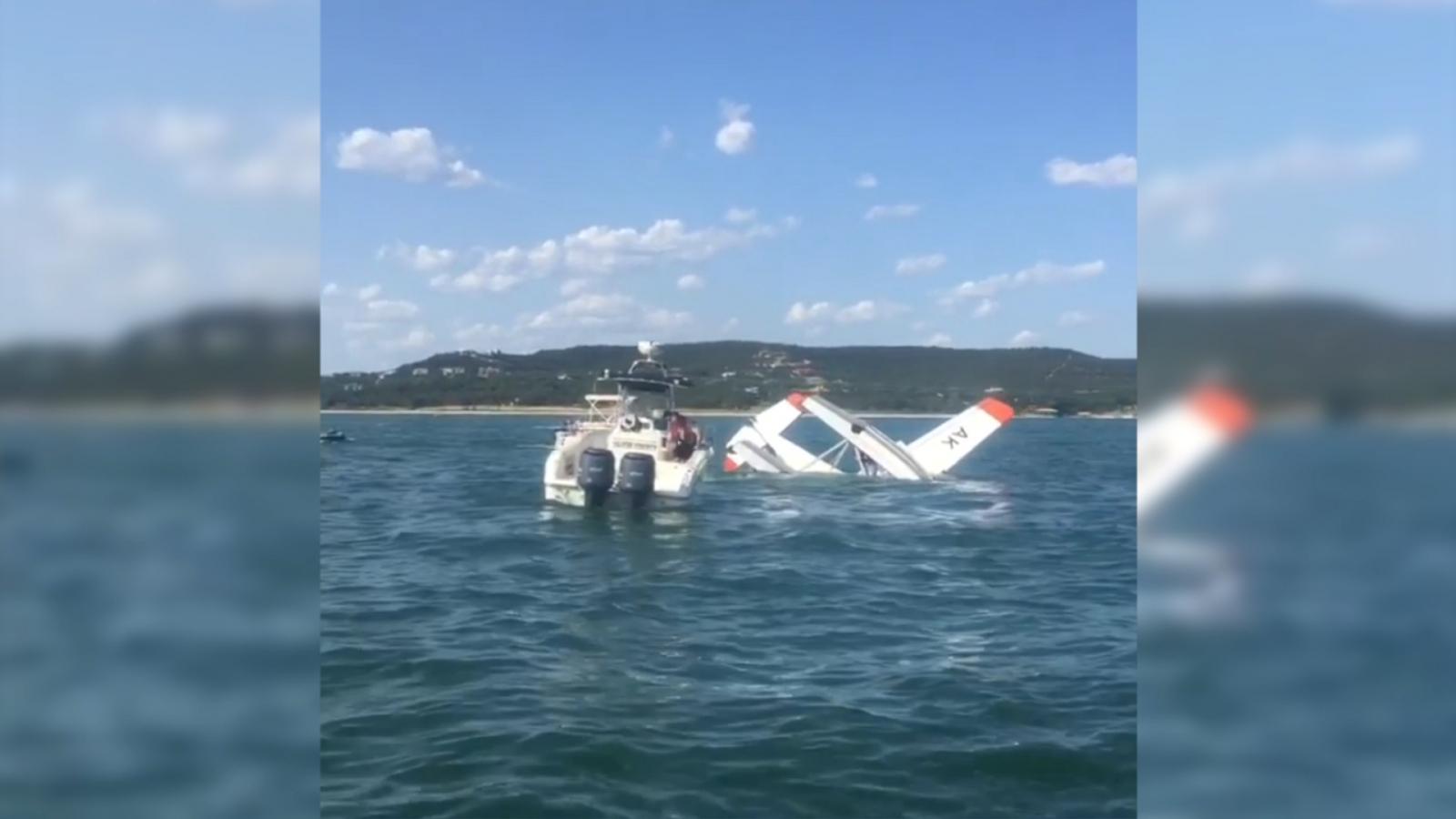 three-passengers-evacuated-after-plane-crashes-into-lake