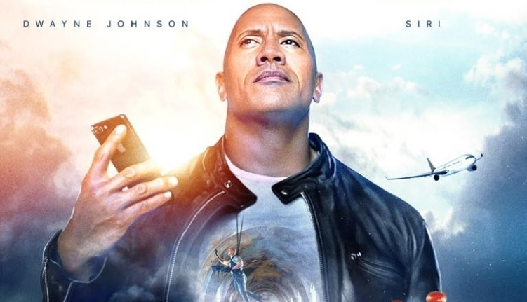 The Rock movie with Siri
