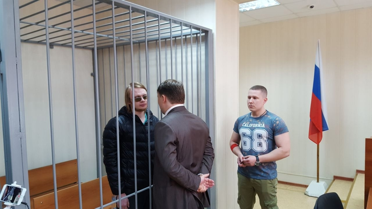 Dmitry Bogatov and his lawyer Sarkis Darbinyan