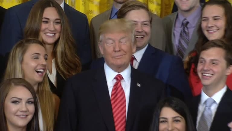 Donald Trump rolls his eyes, 'shushes' reporter at White House