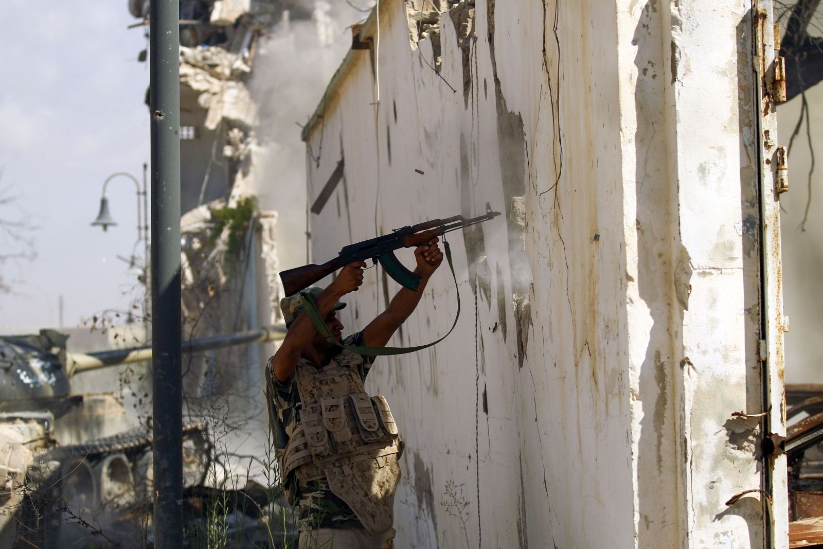 Libyan national army member in Benghazi