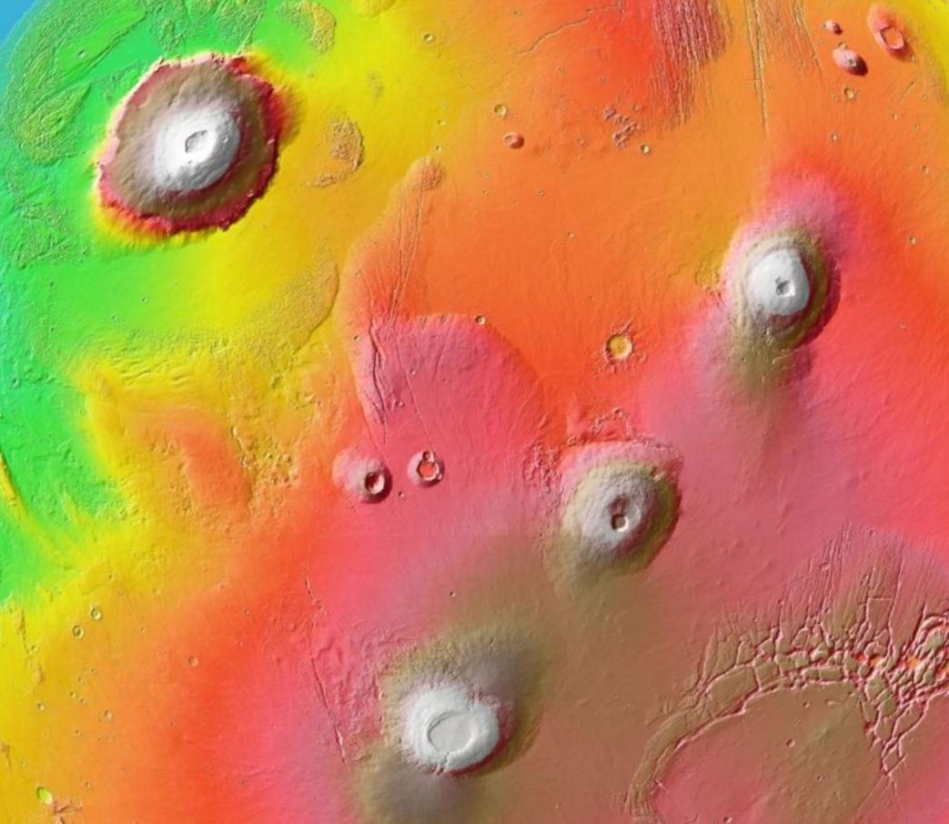 Mars volcanoes