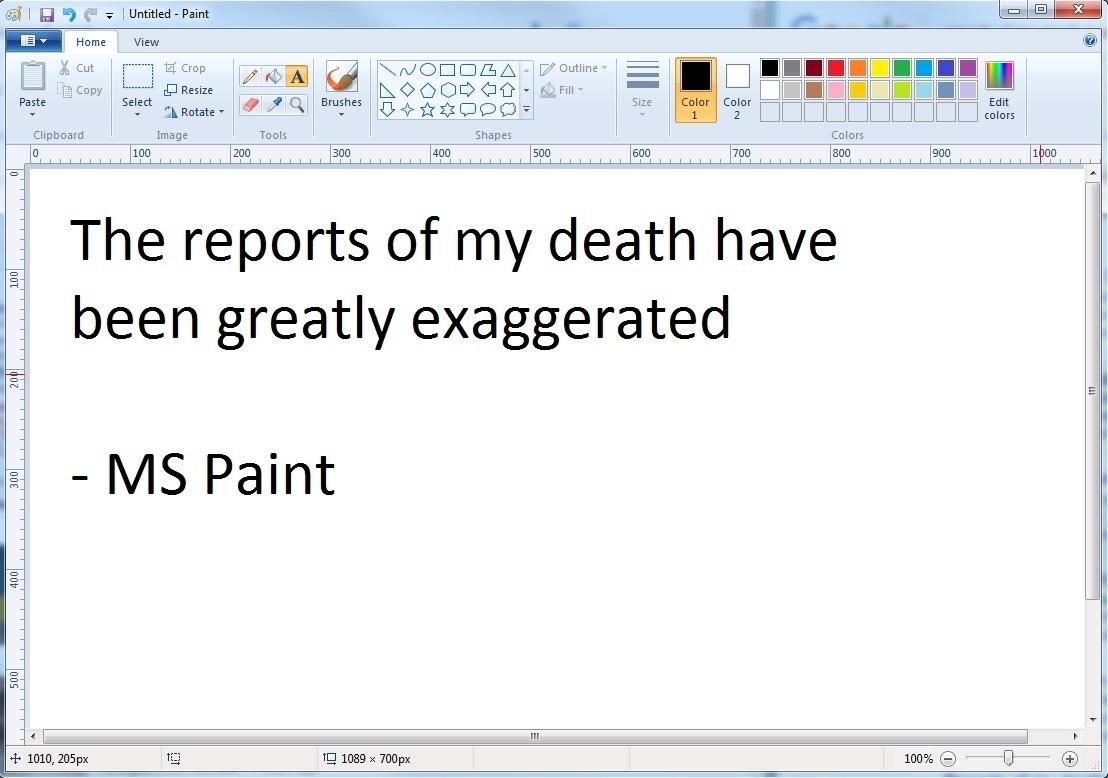 MS Paint survives