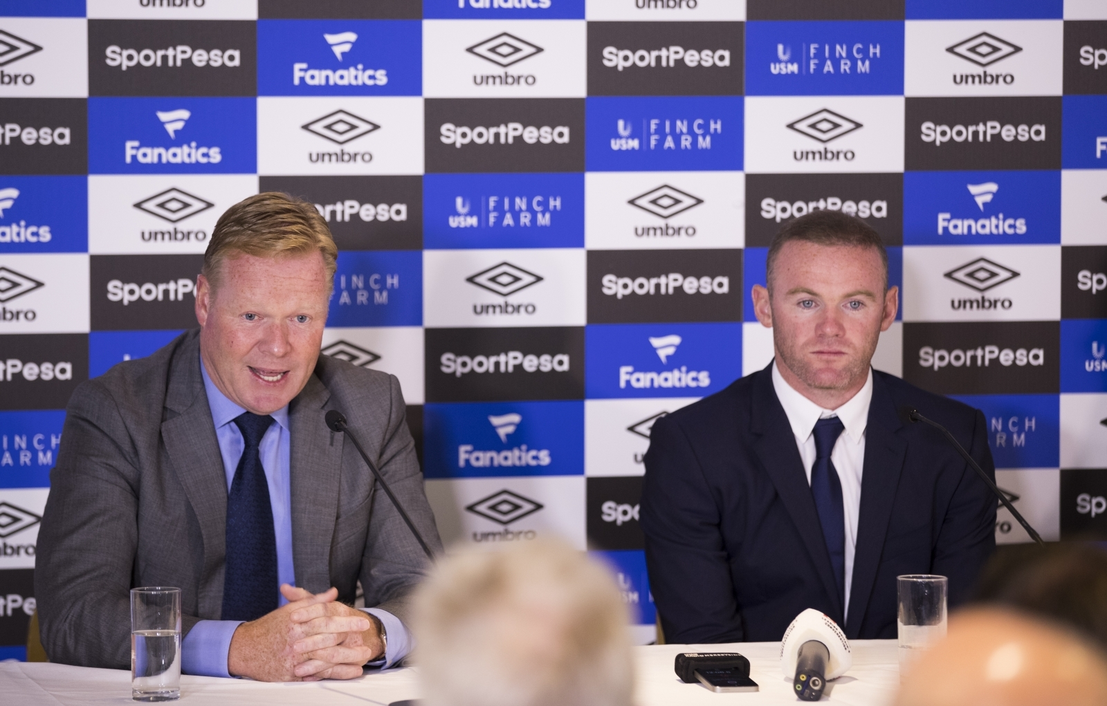 Ronald Koeman and Wayne Rooney