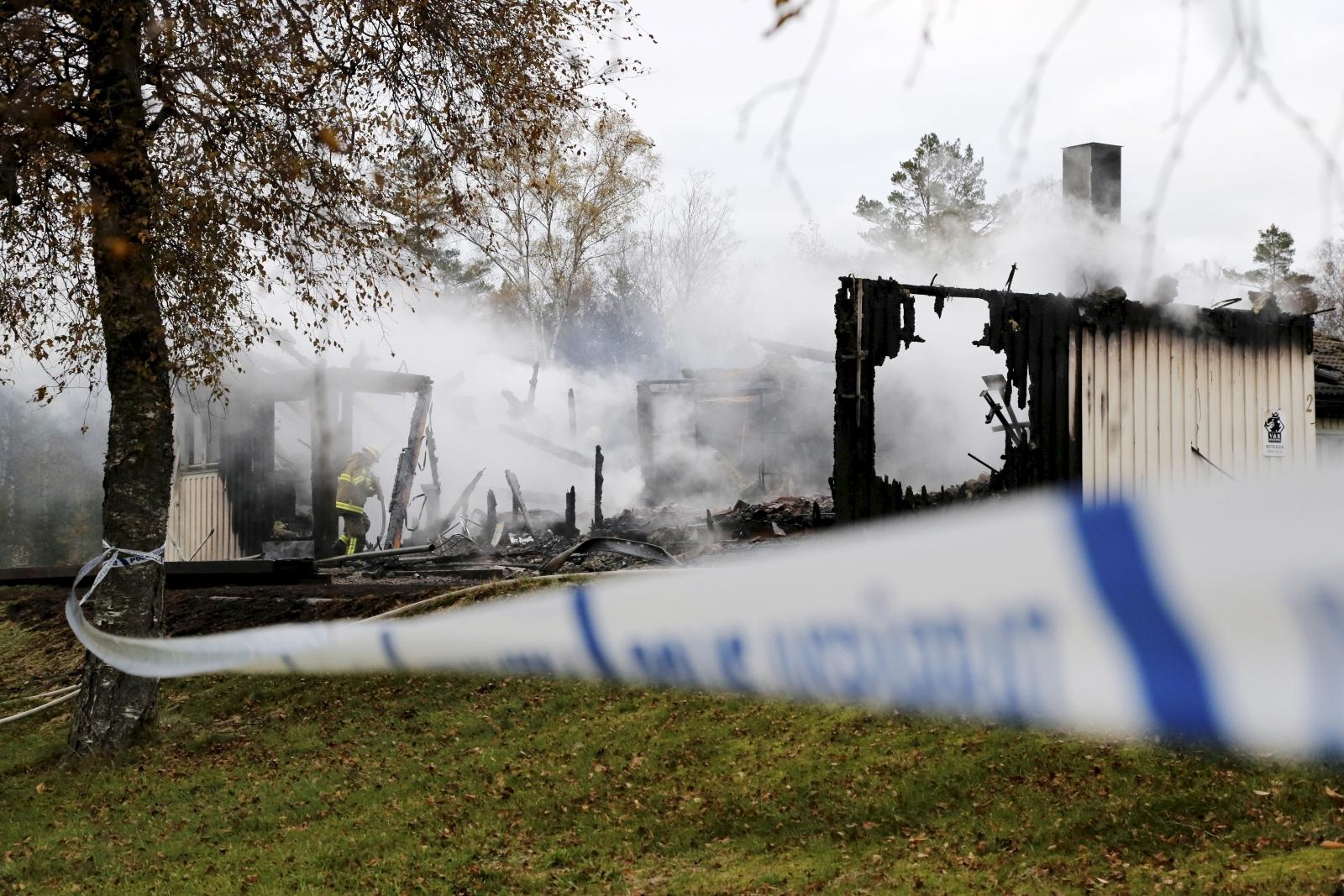 Sweden asylum fire