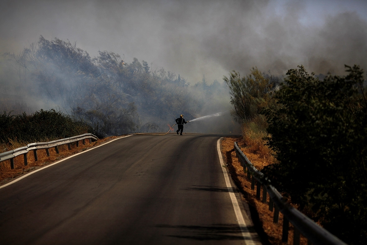 Southern Europe wildfires