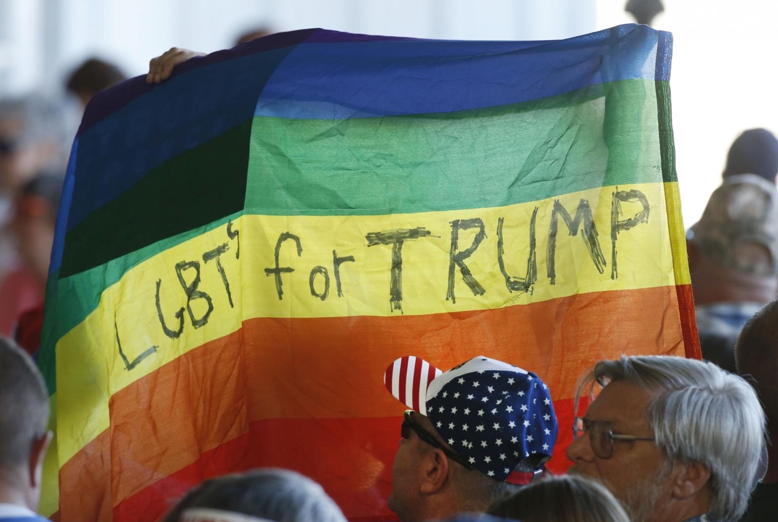 LGBT For Trump flag