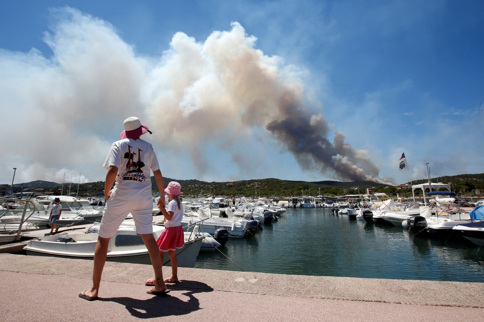 Fires at the Bormes-les-Mimosas, in the Var department, France