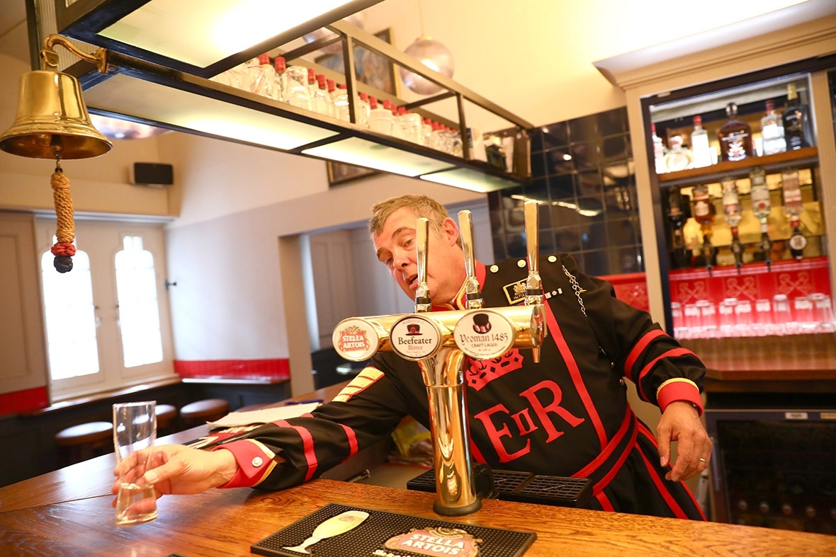 Inside London's most exclusive pub: A private drinking hole for Beefeaters at the Tower of London