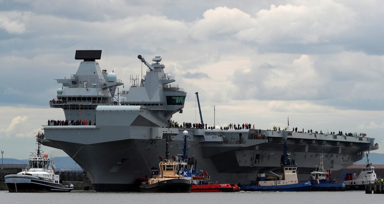 British aircraft carrier HMS Queen Elizabeth