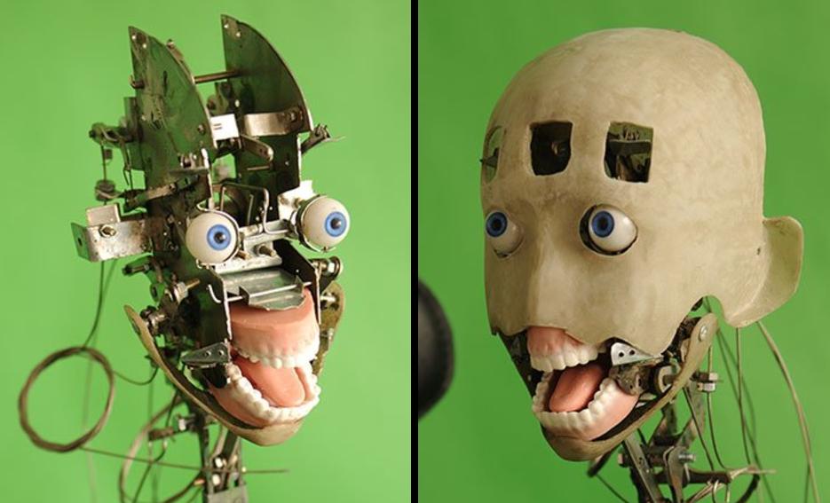 DS Doll sex robot head underneath skin