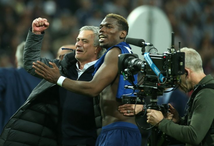Jose Mourinho and Paul Pogba