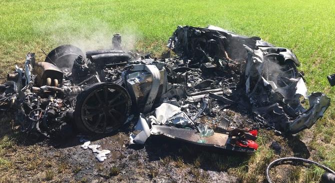 Ferrari crashed